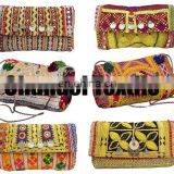 Indian Banjara Clutch bag, Bohemian, Vintage Clutch, Trendy Clutch bag Indian Gypsy Boho Sling Purse, Embroidery Bohemian Clutch