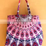 Indian Mandala Hand bag Handmade mandala tote bag Mandala cotton tapestry hobo handbag/girls shopper bag Handle mandala bag
