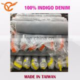 Made In Taiwan 100% Indigo Twill Blue Jeans Fabric Stock Lots