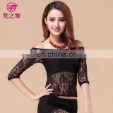 Sexy high lace belly dance top clothes for women S-3079