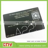 China supplier high quality black metal stainless steel business card