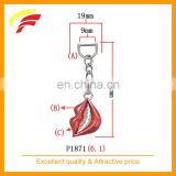 fashion red lips shaped zinc alloy pendant for belt bag and garment