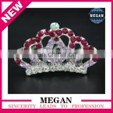 Hot selling Rhinestone baby kids Birthday party girl women hair comb gift tiara crown