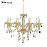 Gold crystal chandelier blown glass arms murano glass chandelier With the Best Quality