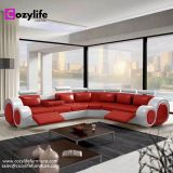Modern large L shaped corner reclining sofa