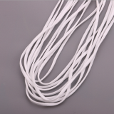 3mm Flat Round Elastic Band Cord Earloop for Face Mask