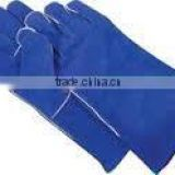 Safety protective cow split leather welding gloves with kevlar thread