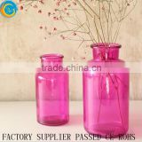 Stylish colorful Glass Bottle plant vase or moss terrarium clear flower vases                                                                         Quality Choice
