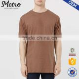 OEM Wholesale Mens Brown Slub Longline T Shirts                                                                         Quality Choice