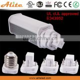 Made in China CCT WW NW CW base G23-2/G23X-2/G24D/G24Q/E26/E27 9w led lamp replace 26w cfl 4-pin led pl light