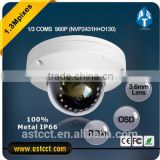 1/3 CMOS 3.6mm Fixed Lens Burglar Alarm System HD 720P 1.3Mega Pixel AHD Color IR 20m Dome CCTV Camera