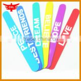 Guangdong Factory Make Custom Promotion Silicone Clap Bracelets                                                                         Quality Choice