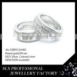 925 sterling silver antique ring white stone rings yellow gold plated material rings jewelry wholesale form SLS jewelry