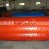 orange plastic roll cover& water proof plastic sheet&waterproof woven fabric tarpaulin