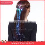 Led hair braid with plastic fiber optic, Led flashing hair accessories