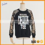 lace mosaic pullover lady bloues letter printed blouses boutique women clothing                                                                                                         Supplier's Choice