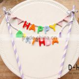birthday party theme hot sell cake flag banner