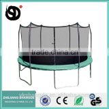 15ft big heavy duty safe bungee jumping trampoline with round fitness mats and child safety net
