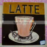 Hand painted home decoration plaque glazed ceramic picture tiles