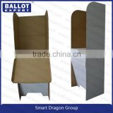 custom JYL SE-TDC002&3 cheap folding cardboard display election ballot booth table from China factory