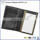 2015 Factory Hot Sale Black Business Soft Leather Writing Pad Holder