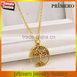 Gold Tree of life Handmade Metal Necklace Fashion Women Charm Jewellery