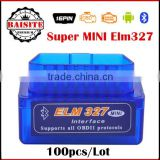 Latest version Super Mini ELM327 Bluetooth V2.1 OBD2 OBD II CAN-BUS car diagnostic interface with good feedback
