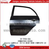 Steel Rear Door For Toyota Corolla Aftermarket Auto Spare Parts wholesaler