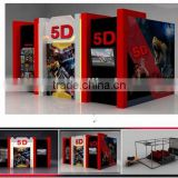 Video game 5D cinema amusement park rides for sale                                                                         Quality Choice