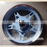 13 inch motorcycle alloy wheel, rear wheel in light blue