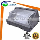 Fin Cooling Heat Dissipation UL Listed Meanwell Driver ETL cETL 100W LED Wall Pack Light