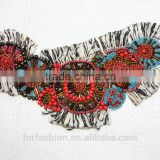 Handmade bead embellishments beaded neck trim