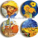 Vincent Van Gogh badge button pin set (Size is 1inch/25mm diameter) Post Impressionism Art, Sunflowers Pins