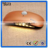 Broad bean shape small portabale sound motion detector led sensor night light/lamp for indoor home