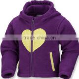 Hot sale baby fashion promotional fleece jacket
