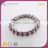 G69814K02 White Stone Cheap Boho Snake Chain Boy And Girl Baseball Bracelet For Festival Events
