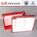silver hot stamping pvc insert cordboard paper cosmetic box