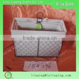 Factory wholesale rectangular iron metal chicken wire storage basket with handle & liner