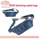 RFID Blocking Money Belt Waist Passport Holder