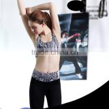 breathable quick-drying bra snakeskin pattern fashion bra active wear custom sport bra elastic band yoga sport bra women