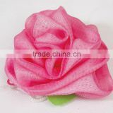 Wholesale rose shaped soft bath spong ,shower cap , PVC bagoft bath balll ,mesh shower wash sponge for promotional gift