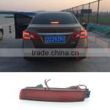 Car 12V LED Red Rear Bumper Reflector Brake Light Warning Light For Nissan Sentra Sylphy 2013 2014 2015                                                                         Quality Choice
