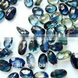 4*6mm natural stone blue yellow sapphire good price gems