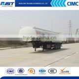 Tri axle oil tanker trailers/ CIMC fuel tank semi trailer/gasoline transport tank trailer
