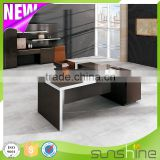 Office desk BS-Z2090 50mm desktop with aluminum edge banding modern curve desk