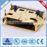 mini USB connector HDMI 19P SMT apply for TV interface hot selling
