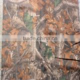 100% polyester forest camouflage fabric with PVC coating