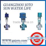 China manufacturer low price three way electric water valve flow control