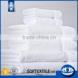 Luxury Plain Terry cloth 100% cotton White Bath Hotel towel set