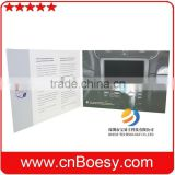 Auto play 7 inch promotional business lcd video brochure